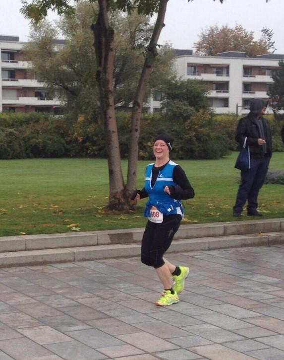 Vizemeisterin Reini 18.10.2015 Marathon Lübeck